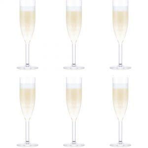 Bodum Oktett Champagneglas Smalt 6 st.