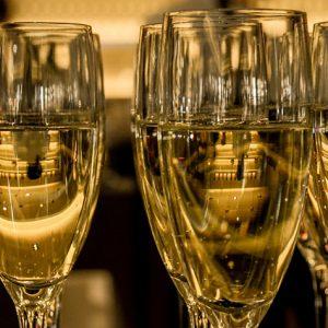 Champagneprovning vid Stureplan i Stockholm